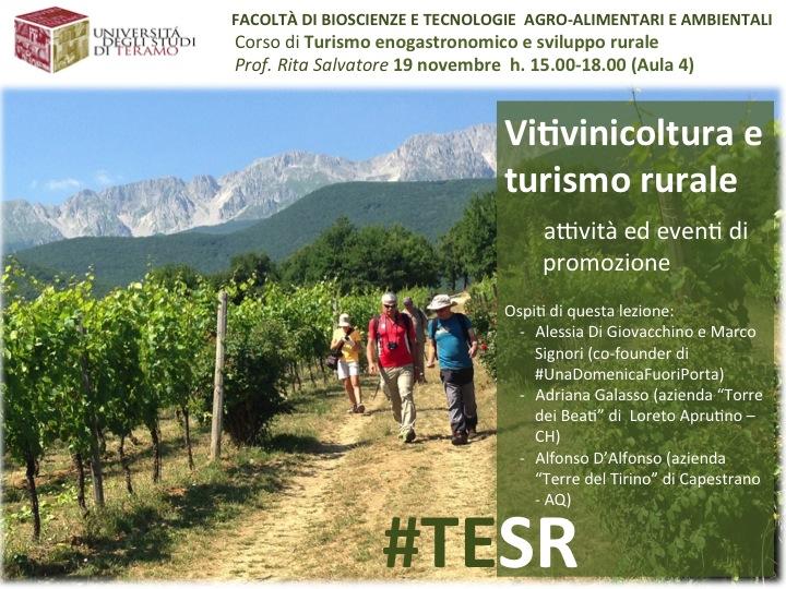 Vitivinicoltura e turismo rurale